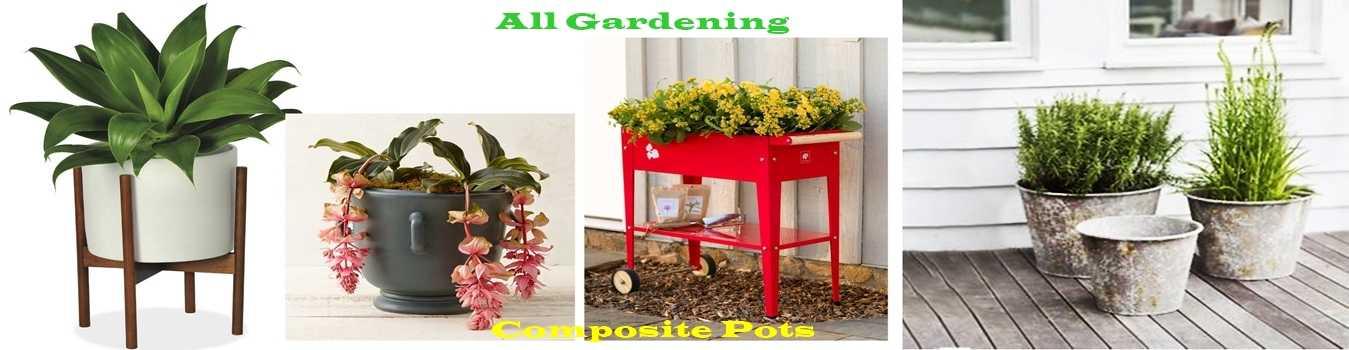 chậu nhựa sân vườn composite
