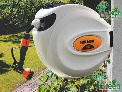 ống cuộn tưới sân vườn thu dây tự động holman 20m hàng úc