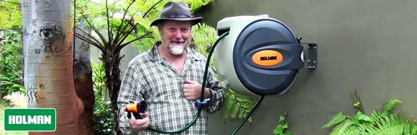 ống cuộn tưới vườn thu dây tự động holman hose reel igreen