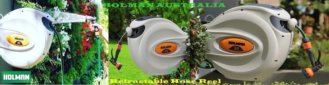 ống cuộn tưới vườn thu dây tự động Holman